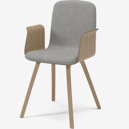 Krzesło tapicerowane z podłokietnikami Palm Bolia