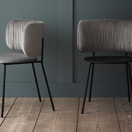 Krzesło z tapicerką Pleat 1 Bolia