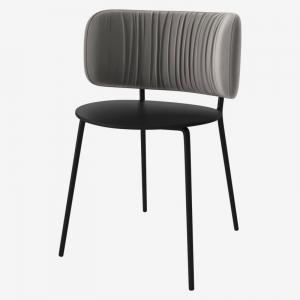 Krzesło z tapicerką Pleat Bolia