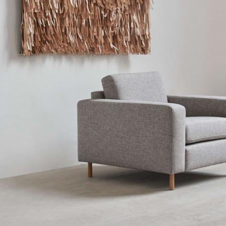 Kwadratowy fotel tapicerowany Scandinavia 1 Bolia