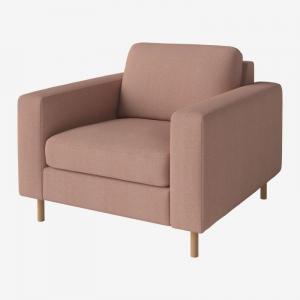 Kwadratowy fotel tapicerowany Scandinavia Bolia
