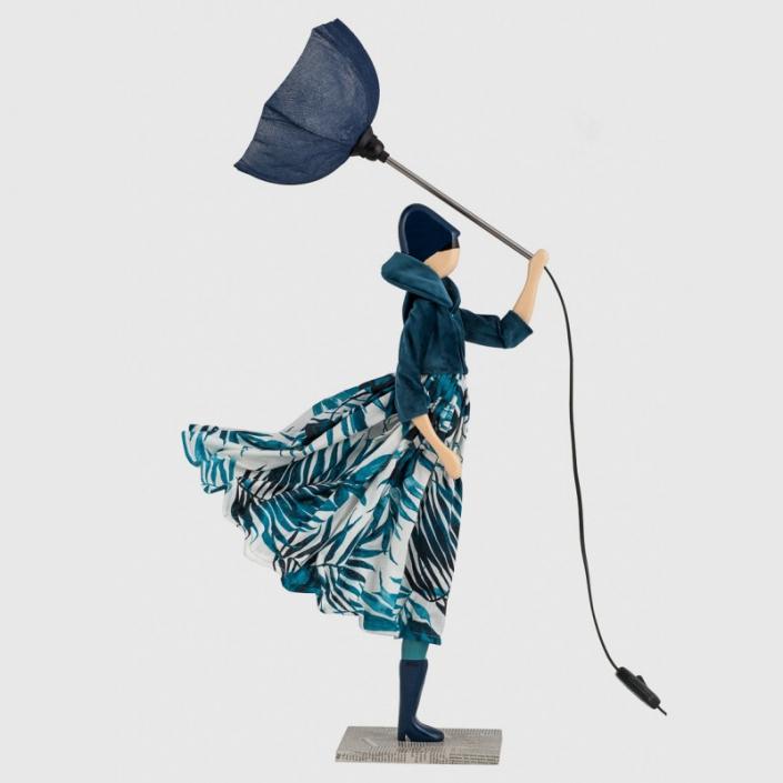 Lampa kobieta z motywem roślinnym Gorgo