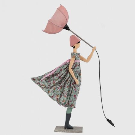 Lampa stołowa kobieta w kwiecistej sukience Anthia