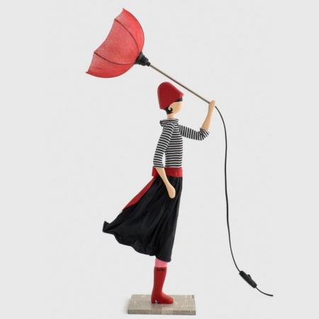 Lampa stołowa kobieta z parasolem NICOLETA