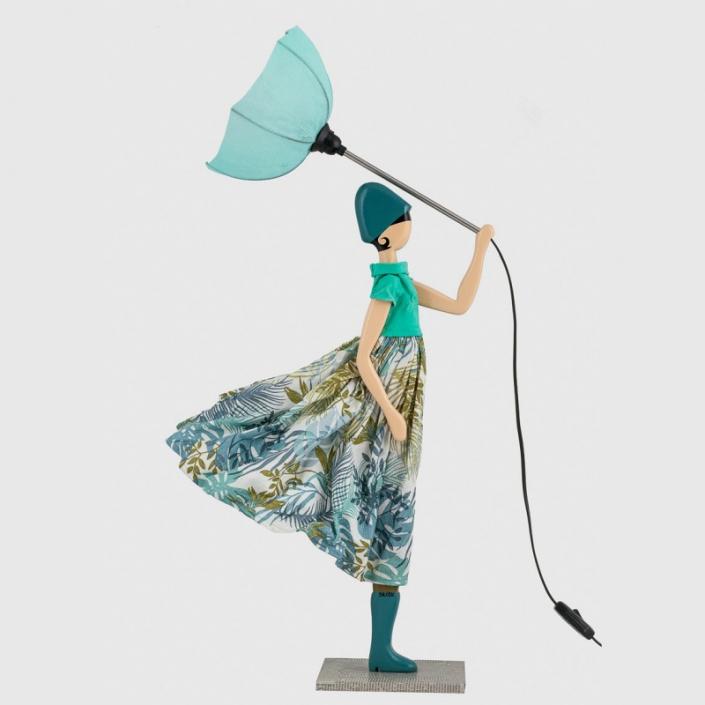 Lampka dziewczyna w sukience motyw roślinny Loudia