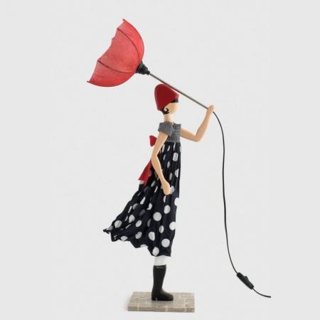 Lampka dziewczynka sukienka w groszki MIMI