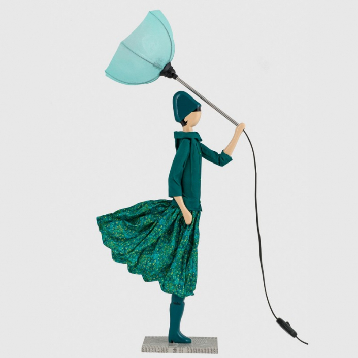 Lampka stołowa kobieta butelkowa zieleń Stella
