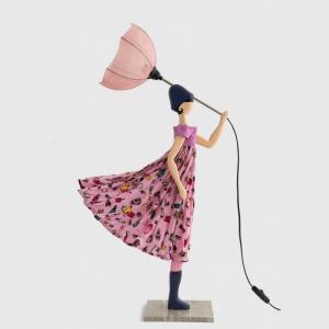 Młodzieżowa lampka dziewczyna w różowej sukience ESSIE