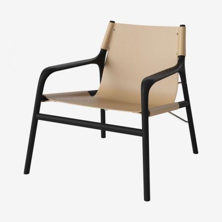 MInimalistyczny fotel z drewnianym stolarzem Soul Bolia