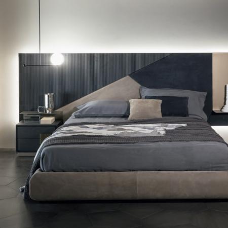 Nowoczesne łóżko z szerokim wezgłowiem Ego 1.jpg