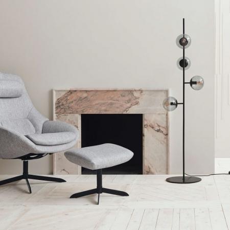 Obrotowy fotel tapicerowany Saga 1 Bolia