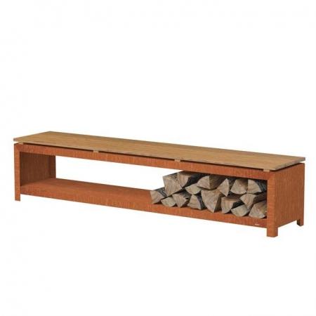 Ogrodowa ławka ze schowkiem na drewno 1.jpg