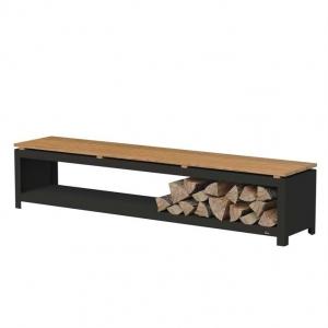 Ogrodowa ławka ze schowkiem na drewno.jpg