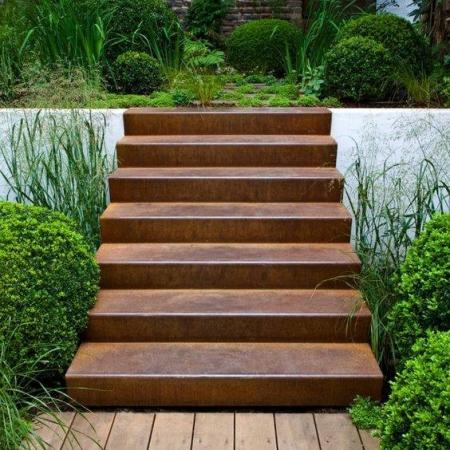 Ogrodowe schody zewnętrzne stal kortenowa 1.jpg