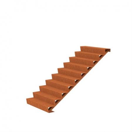 Ogrodowe schody zewnętrzne stal kortenowa 2.jpg