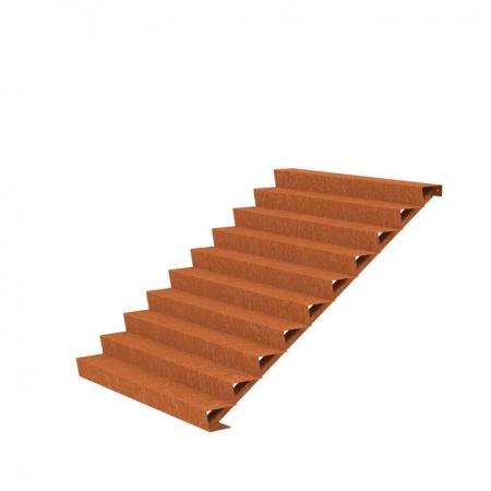 Ogrodowe schody zewnętrzne stal kortenowa.jpg
