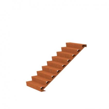 Ogrodowe schody zewnętrzne stal kortenowa 6.jpg