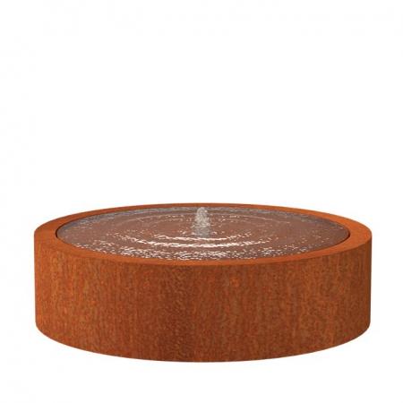 Okrągła fontanna ogrodowa ze stali kortenowej 2.jpg