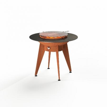 Okrągły grill ze stali kortenowej Forno Cooking.jpg