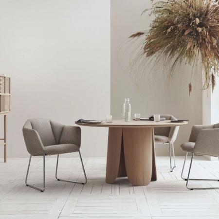 Okrągły stół z drewna Peyote 1 Bolia