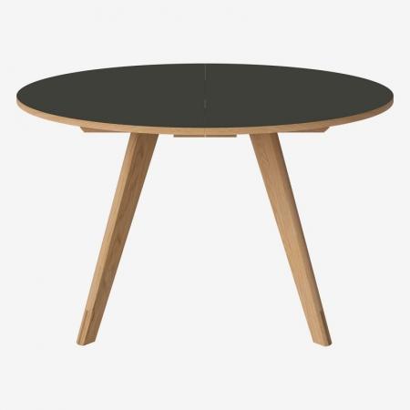 Okrągły stół z drewna z barwionym blatem New Mood Bolia