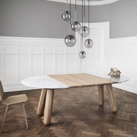 Okrągły stół z marmurowym blatem Balance 1 Bolia