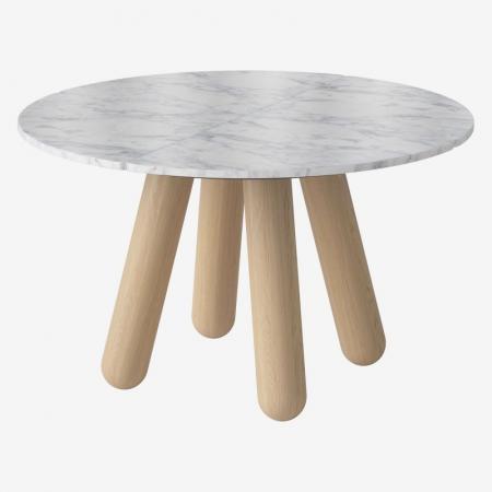 Okrągły stół z marmurowym blatem Balance 4 Bolia
