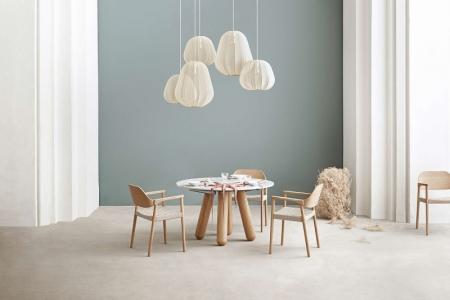 Okrągły stół z marmurowym blatem Balance 7 Bolia