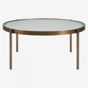 Okrągły stolik kawowy ze szkła i metalu Tab okrągły Bolia