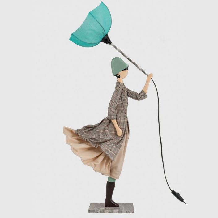 Oryginalna lampa stołowa kobieta w płaszczu Elsa