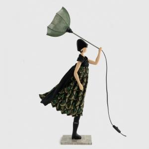 Oryginalna lampa stołowa kobieta w sukni PAGONA