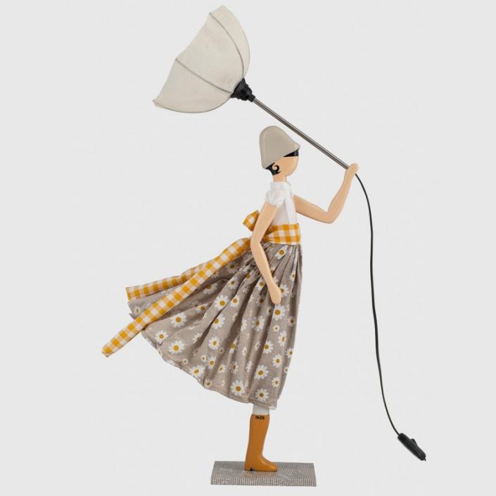 Oryginalna lampka dzieczynka w kwiatki Margarita