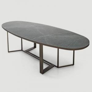 Owalny stół z porcelanowym blatem Boston Shake Design