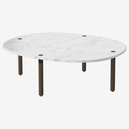 Owalny stolik kawowy z marmurowym blatem Tuk 8 Bolia