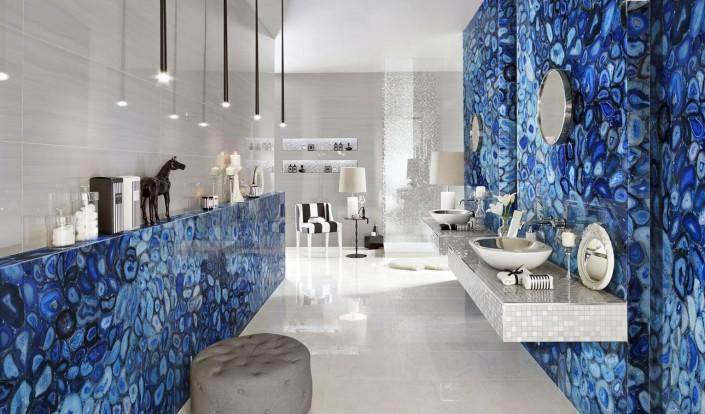 Pantone 2020 Classic Blue łazienka