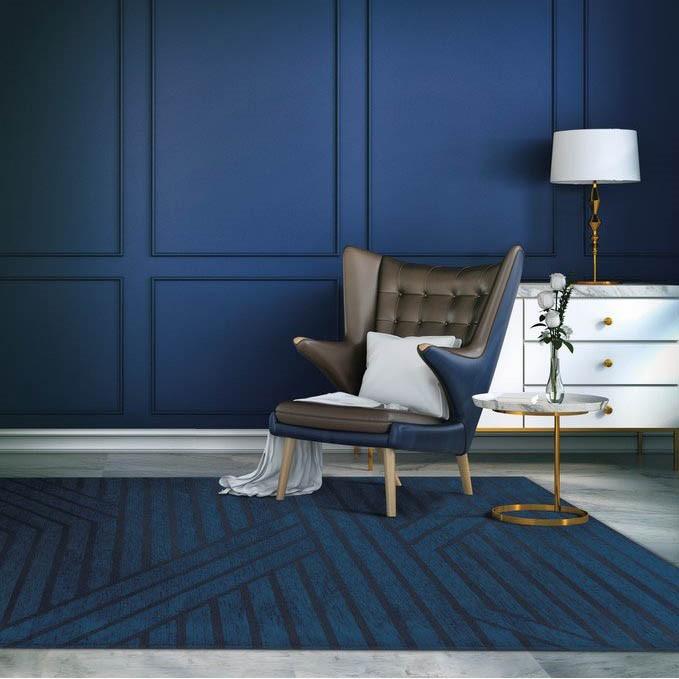 Pantone 2020 Classic Blue dywan