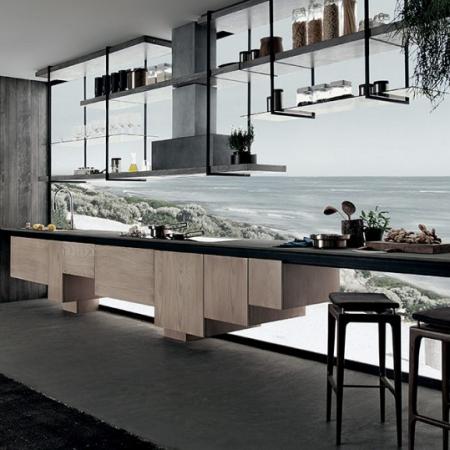 Podłużna kuchnia w nowoczesnym stylu Line 1.jpg