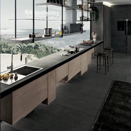 Podłużna kuchnia w nowoczesnym stylu Line.jpg