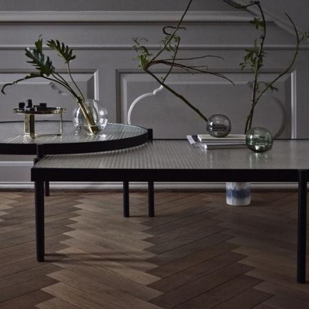 Prostokątny stolik kawowy ze szkła i metalu Tab 1 Bolia