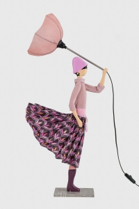 Różowa lampa stołowa różowa kobieta Glikeria