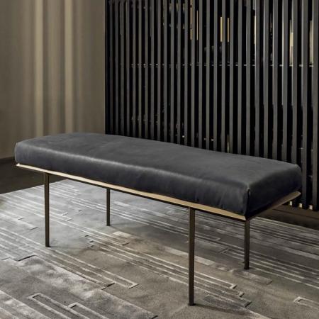 Tapicerowana ławka bez oparcia Prism 1.jpg