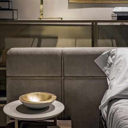 Tapicerowane łóżko w nowoczesnym stylu Mesh 1.jpg