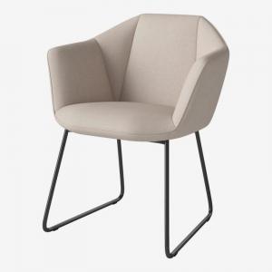 Tapicerowane krzesło w nowoczesnym stylu Kimono Bolia