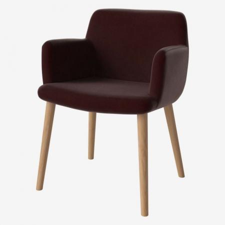 Tapicerowane krzesło z podłokietnikami C3 Bolia
