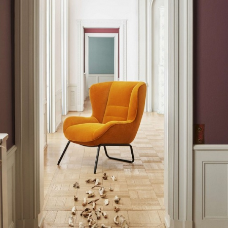 Tapicerowany fotel w nowoczesnym stylu Olive 1 Bolia