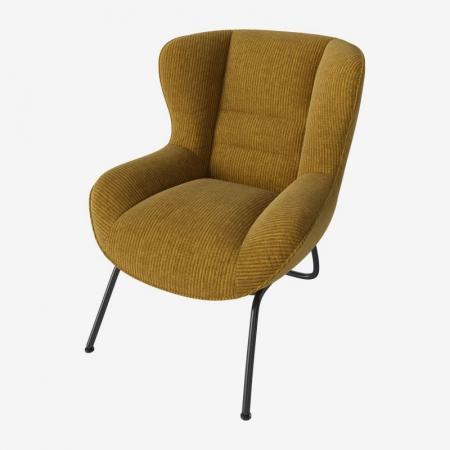 Tapicerowany fotel w nowoczesnym stylu Olive Bolia