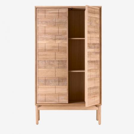 Wysoka komoda z drewna Clinkers 1 Bolia