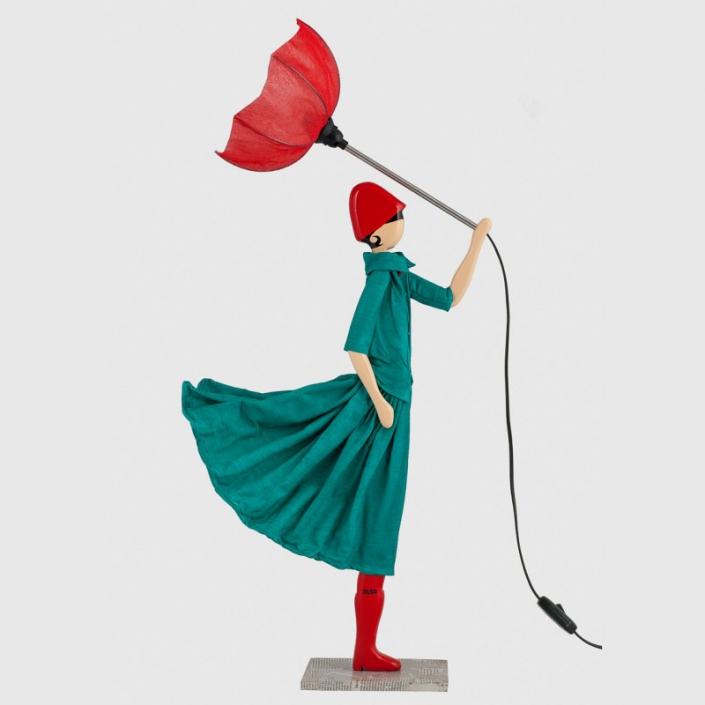 Zielona dziewcznka w sukience Marinela