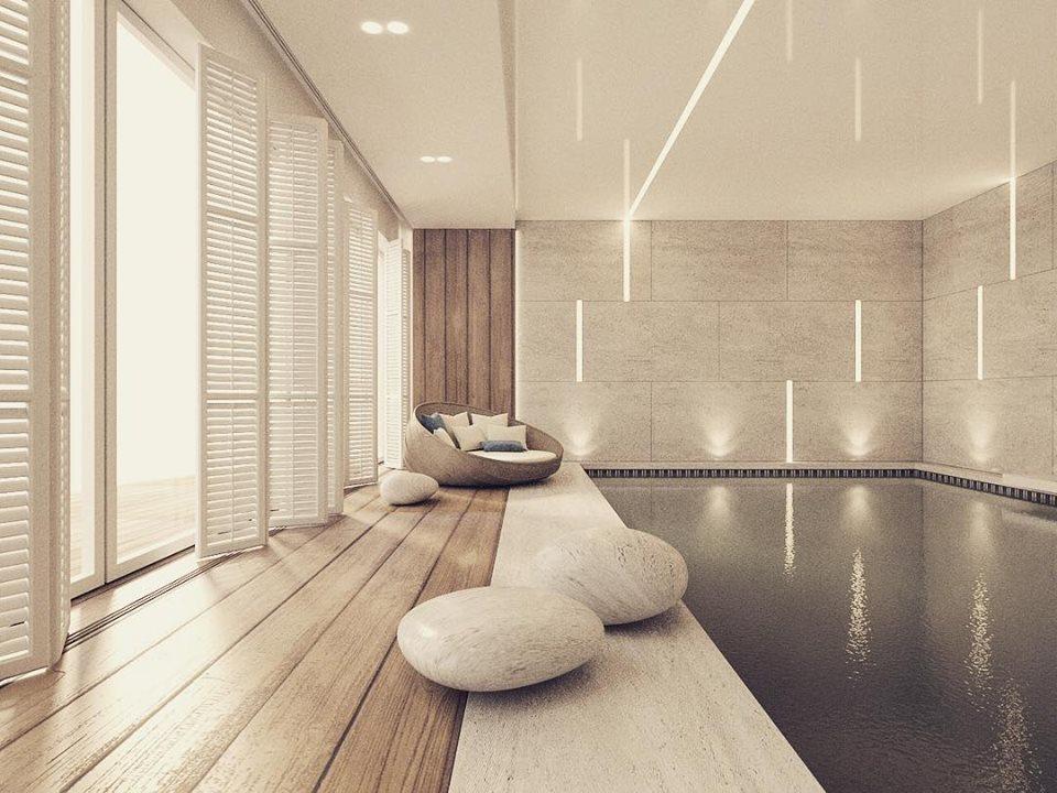 Eleganckie wnętrza według Katarzyny Kraszewskiej basen