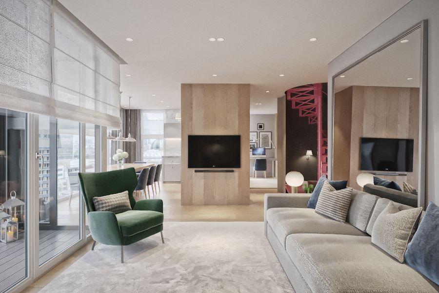 Eleganckie wnętrza według Katarzyny Kraszewskiej projekt apartamentu